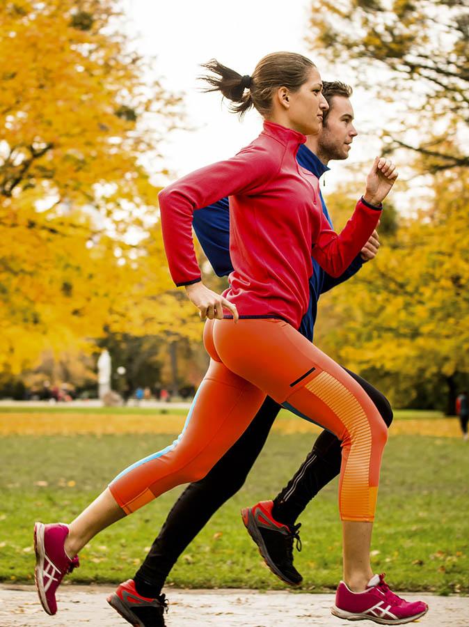 Joggingtur på hösten